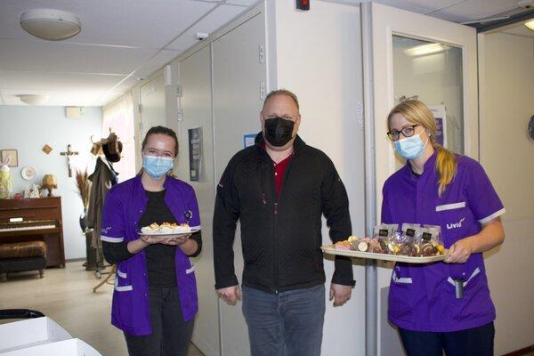 Ruud Brinkers en 2 personeelsleden KSW Livio De Meergaarden